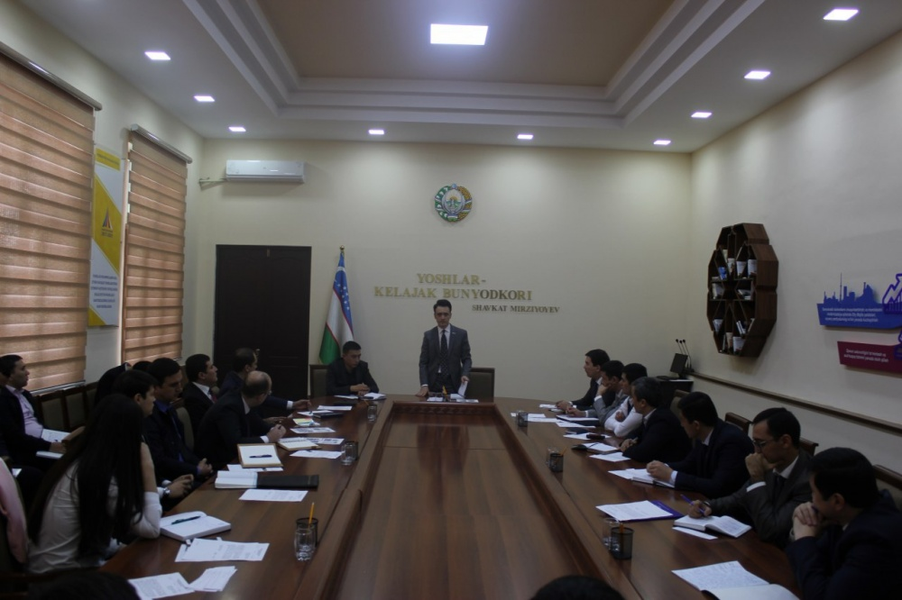 A round table at the Youth Association of Uzbekistan